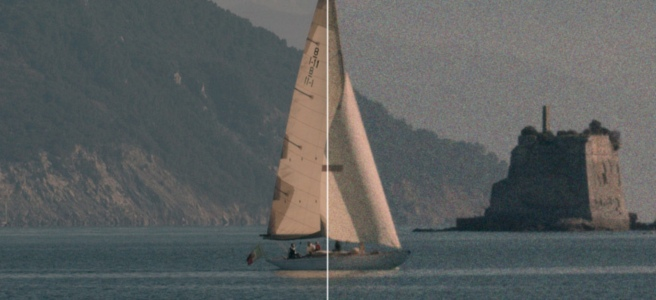 How does film grain work in Dehancer OFX plugin