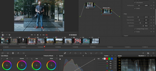 Editing photos in DaVinci Resolve